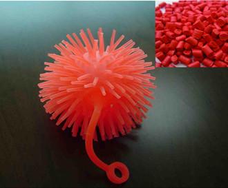 红色tpe玩具球料